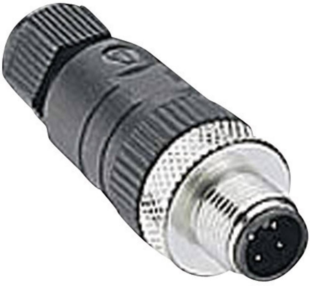 Moški konektor za kabel z možnostjo predpriprave, M12 RSC 4/7 Črna Lumberg Automation 108644