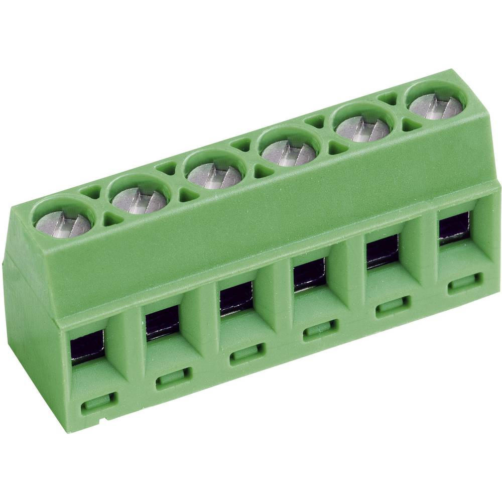 Skrueklemmeblok PTR AKZ602/6-3.81-V 1.00 mm² Poltal 6 Grøn 1 stk