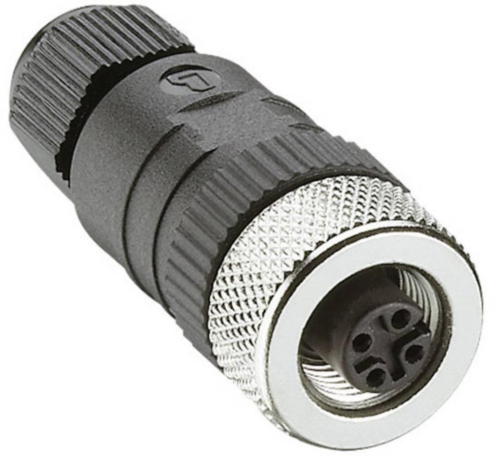 Ženski konektor za kabel z možnostjo predpriprave, M12RKC 4/7 Črna Lumberg Automatio 108646