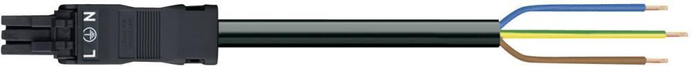 Strømforsyningstilslutningskabel WAGO Samlet poltal 2 + PE Sort 1 stk