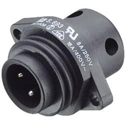 Rundt standardstik serie 693 Binder 09-4223-00-04 Poltal: 3 + PE 16 A 1 stk