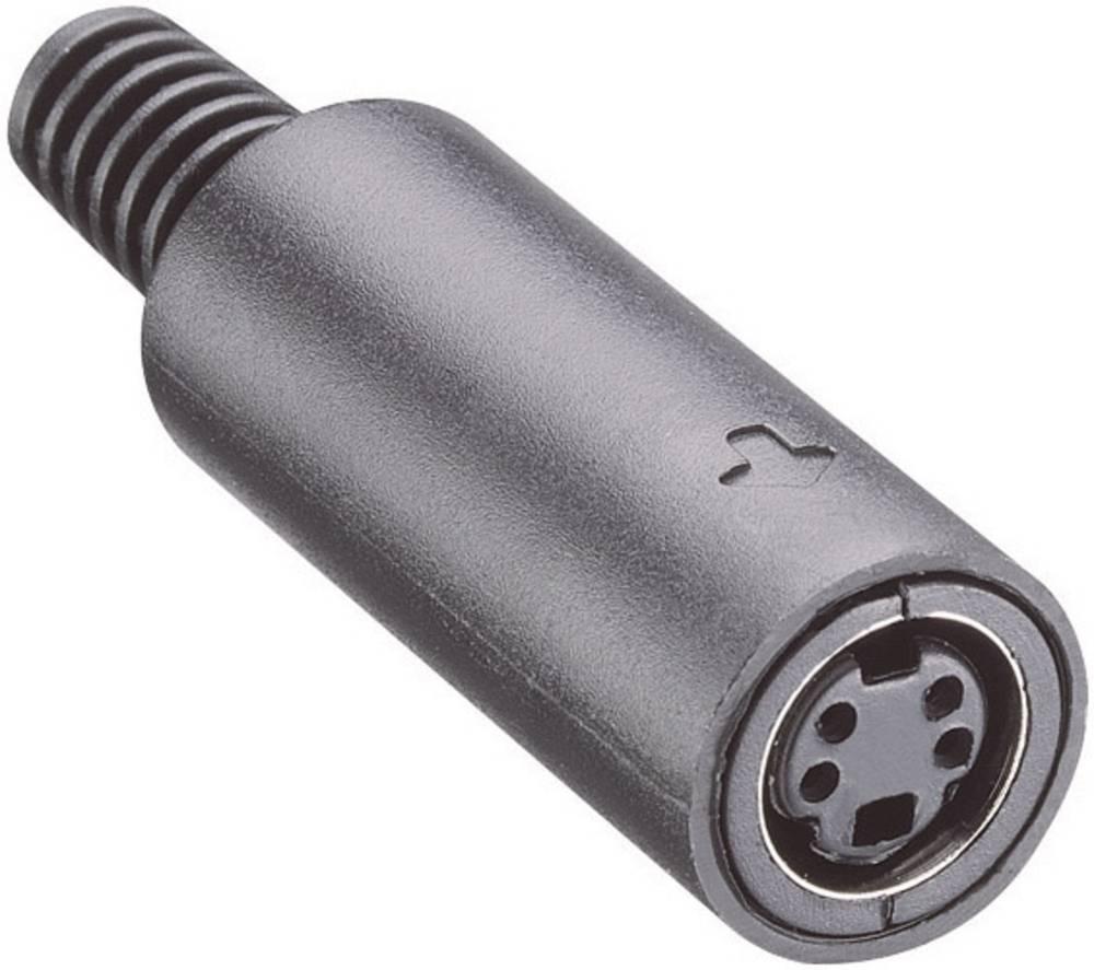 Miniaturni okrogli konektor Število polov=7 Vtičnica, ravnaMJ 372/7 Lumberg
