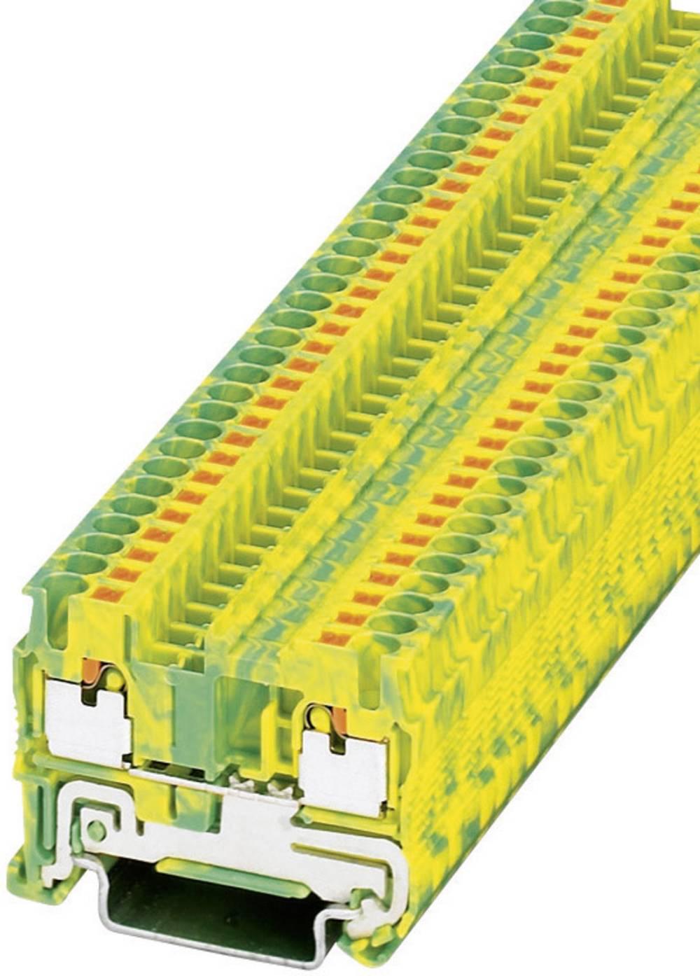 Push-in beskyttelsesleder terminal PT-PE Phoenix Contact PT 2,5-PE Grøn-gul 1 stk
