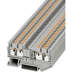 Push-In-firelederklemmer PT-QUATTRO PT 2,5-QUATTRO Phoenix Contact Grå Indhold: 1 stk