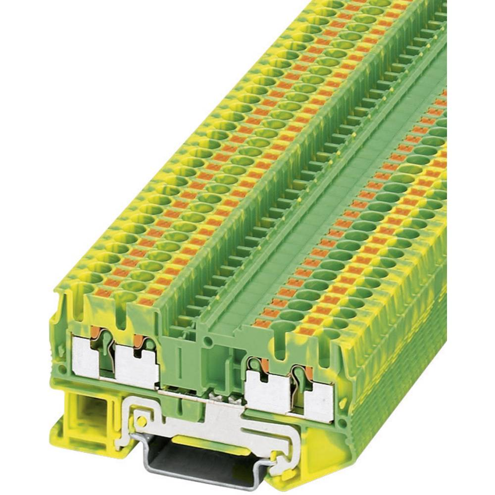 Push-in beskyttelsesleder terminal PT-PE Phoenix Contact PT 2,5-QUATTRO-PE Grøn-gul 1 stk