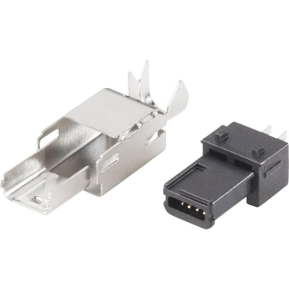 BKL Electronic 10120251 Mini USB-Plug 2/0 Plug, straight