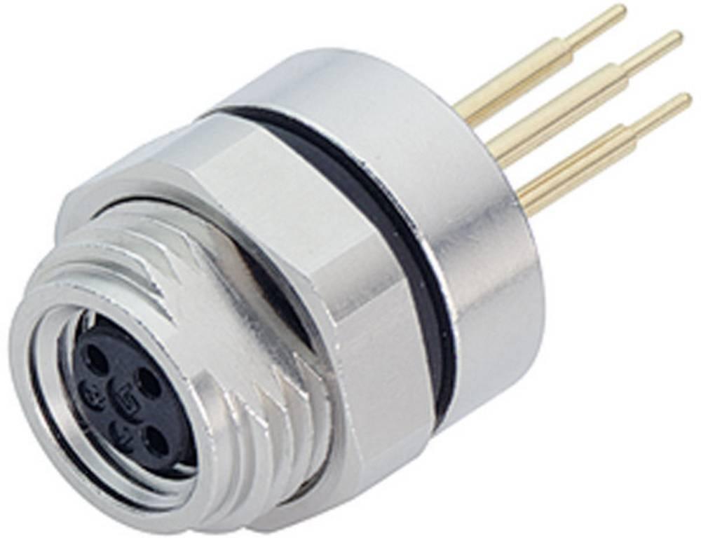 Aktuatorsko-senzorski vtični konektorM8, raven, z navojem 718-09-3412-80-03 Binder