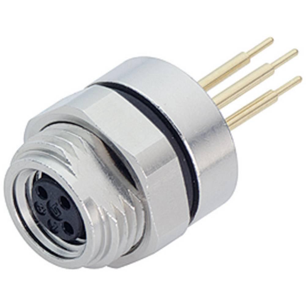 Aktuatorsko-senzorski vtični konektorM8, raven, z navojem 718-09-3390-80-04 Binder
