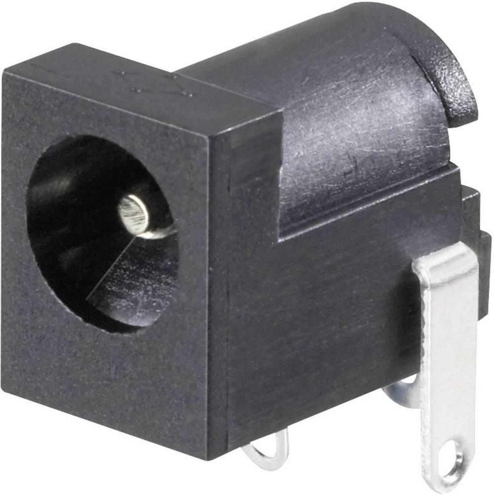 Lavspændingsstik Tilslutning, indbygning vandret 6.3 mm 2 mm Conrad Components 1 stk