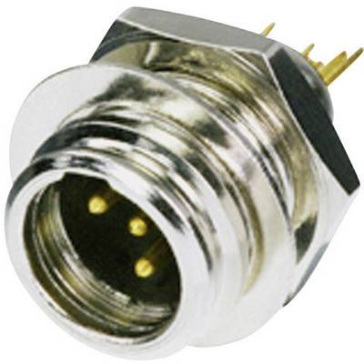 Image of Rean AV RT4MP XLR connector Plug, vertical mount Number of pins: 4 Silver 1 pc(s)