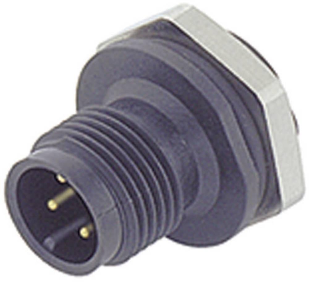 Aktuatorsko-senzorski vtični konektor M12,navojno zapiralo, raven 713-09-0433-387-05 Binder