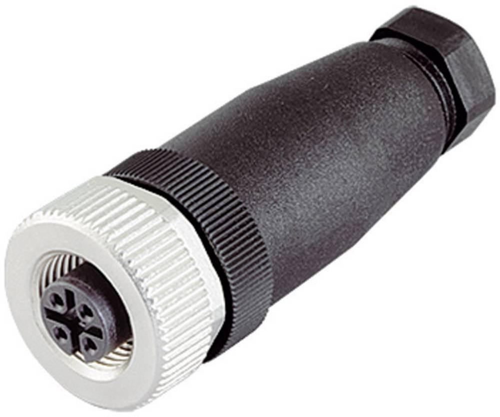 Aktuatorsko-senzorski vtični konektor M12,navojno zapiralo, raven 713-99-0436-14-05 Binder