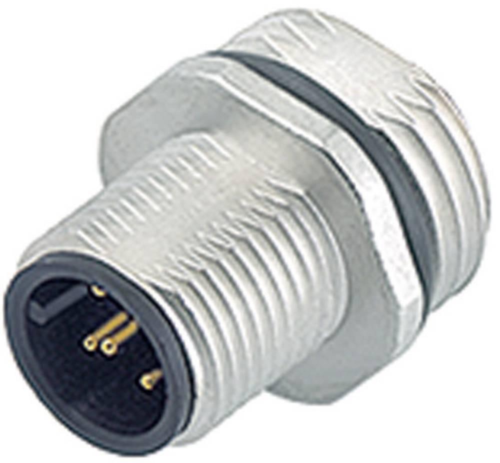 Aktuatorsko-senzorski vtični konektorM12, raven, z navojem 763-09-3441-77-05 Binder