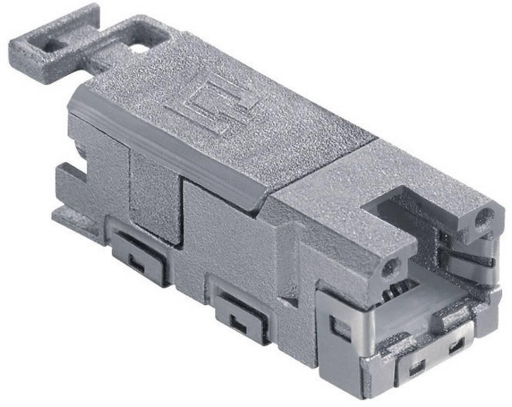 RJ45 Kobling, lige Metz Connect 1401100810MI CAT 6A Grå 1 stk