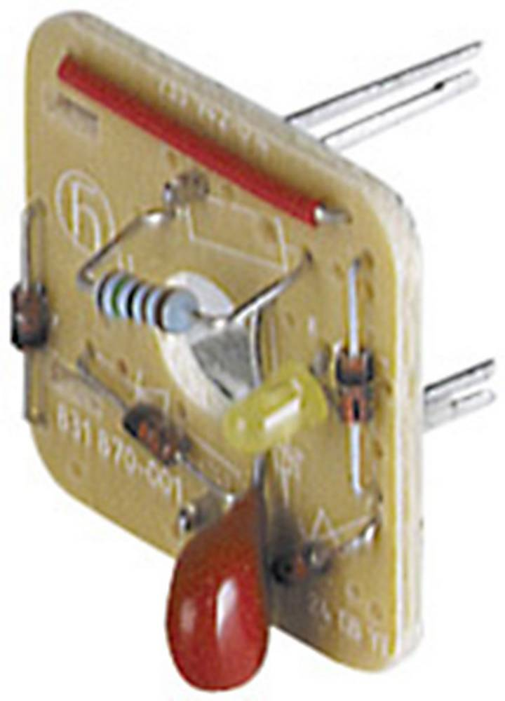 Ventilstikforbindelse Hirschmann GDME LED 24 HH YE - Lysegrå 1 stk