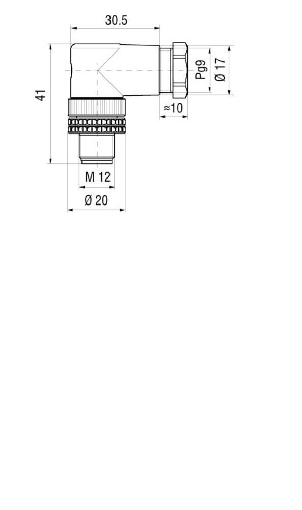 Ženski in moški konektor za kabel, možnost predpriprave,M12 933 166-100 Hirschmann