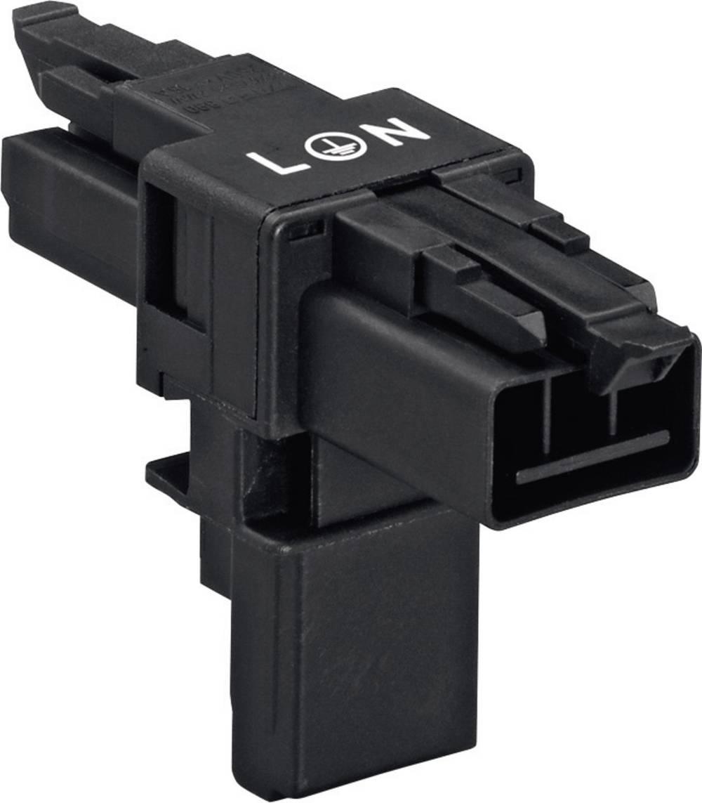 T-strømforsyningsfordeler WAGO 890-606 Samlet poltal 2 + PE Sort 1 stk