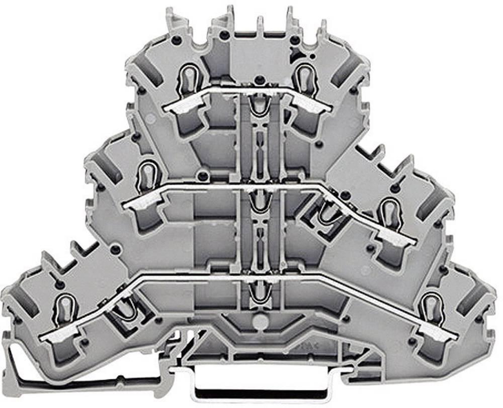 WAGO 2002-3217 Triple Deck Terminal 0.25 - 4 mm² Grey