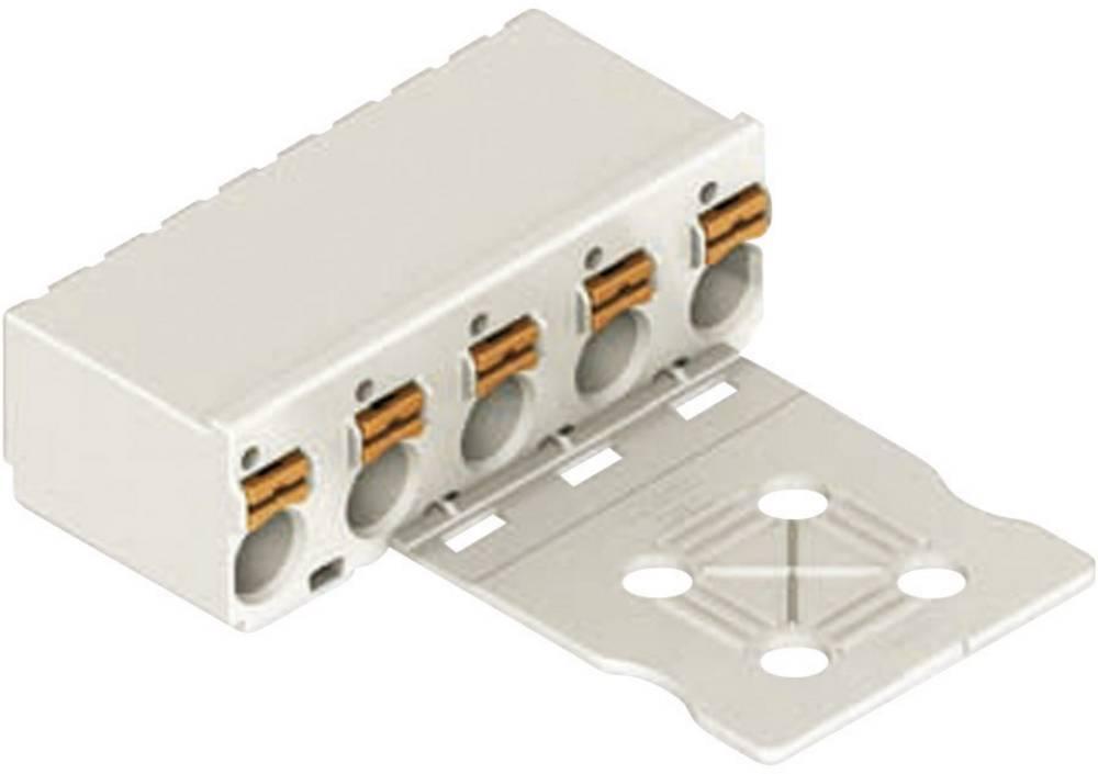 Večtočkovni konektor WAGO picoMAX 5, priključek: CAGE CLAMPS, 16 A, svetlo sive barve 2092-1108/0002-0000