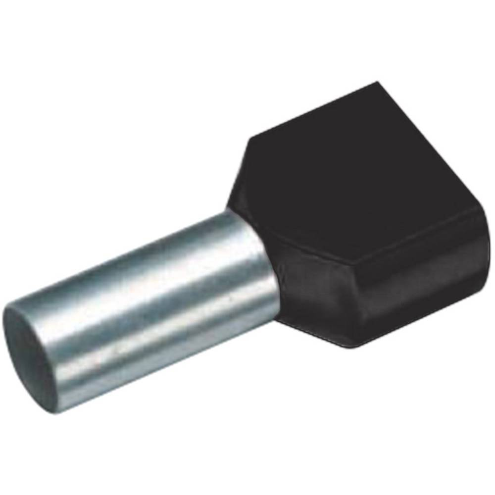 Twin ferrule 2 x 1.50 mm² x 8 mm Partially insulated Black Vogt from ...