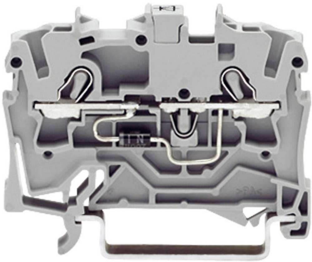 Diodeklemme 5.20 mm Trækfjeder Belægning: L Grå WAGO 2002-1211/1000-410 1 stk
