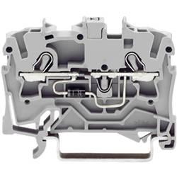 Diodeklemme 4.20 mm Trækfjeder Belægning: L Grå WAGO 2001-1211/1000-410 1 stk