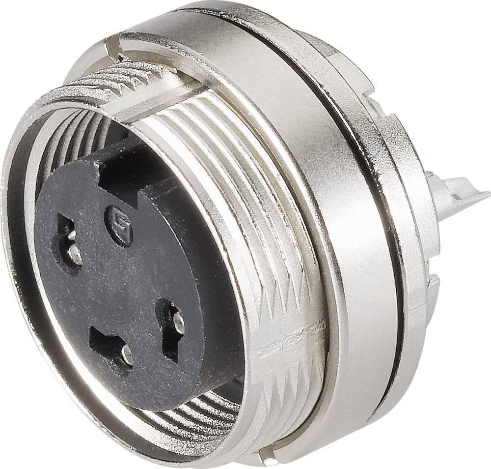 Miniaturni okrogli vtični konektor, serije 723, nazivni tok:7 A, št. polov: 3 DIN 09-01 09-0108-80-03 Binder