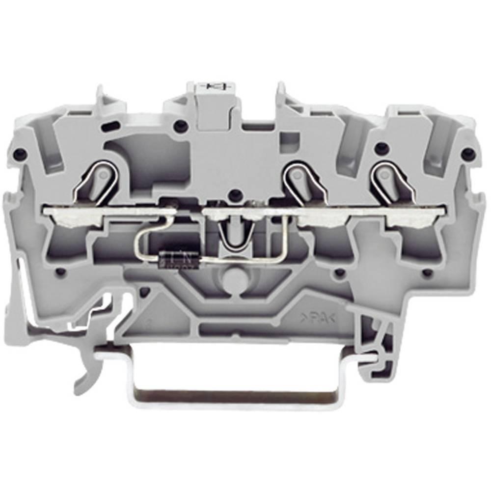 Diodeklemme 4.20 mm Trækfjeder Belægning: L Grå WAGO 2001-1311/1000-411 1 stk