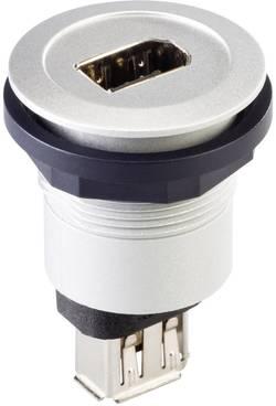 Firewire IEEE 1394 indbygningsbøsning Schlegel RRJ_FW6_STB Sølv 1 stk