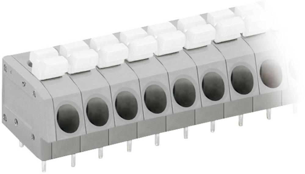 Fjederkraftsklemmeblok WAGO 2.50 mm² Poltal 16 Grå, Hvid 1 stk