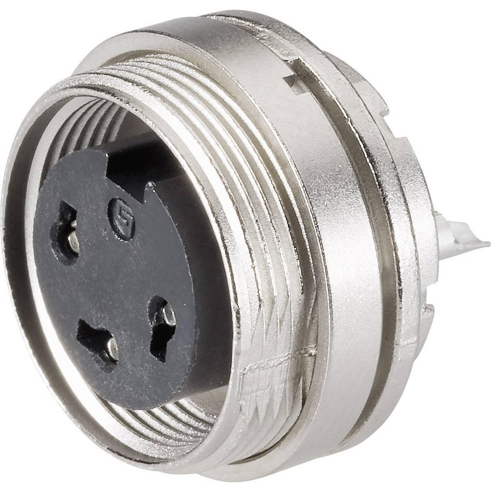 Miniaturni okrogli vtični konektor, serije 682, nazivni tok:6 A, št. polov: 4 09-0312-8 Binder