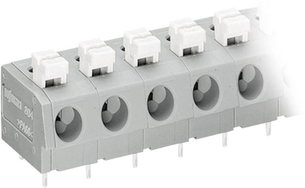 Fjederkraftsklemmeblok WAGO 2.50 mm² Poltal 4 Grå, Hvid 1 stk