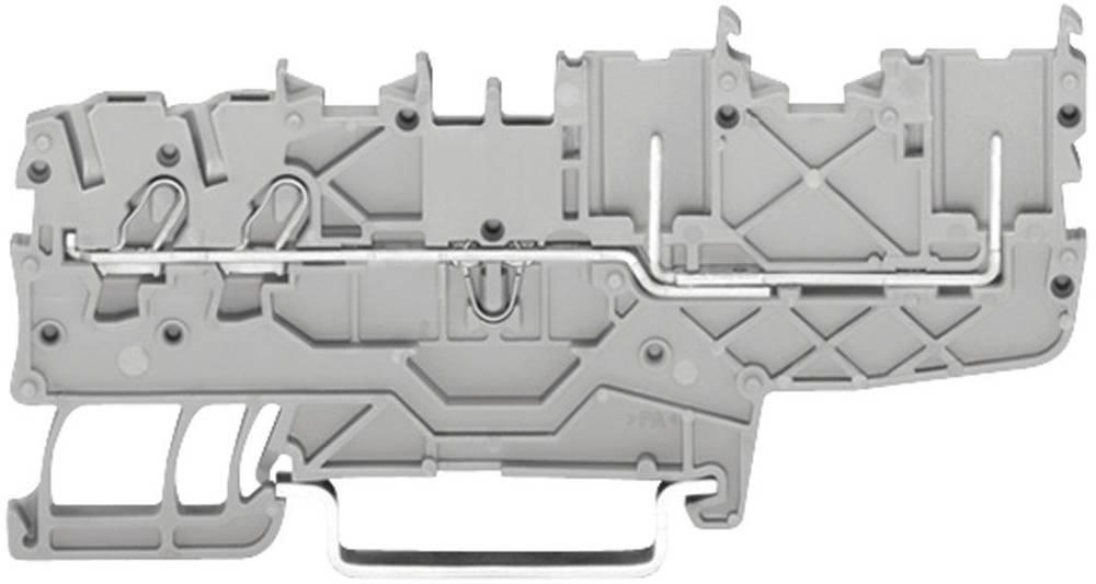WAGO 2020-1401 2-conductor/2-pin Base Terminal, Series 2020 0.14 - 1.5 mm² Grey