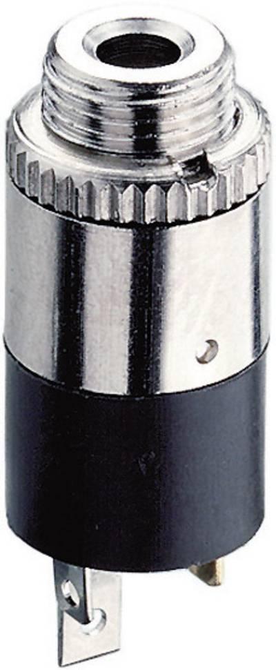 Lumberg KLB 13 2.5 mm audio jack Socket, vertical vertical Number of pins: 3 Stereo Black 1 pc(s)