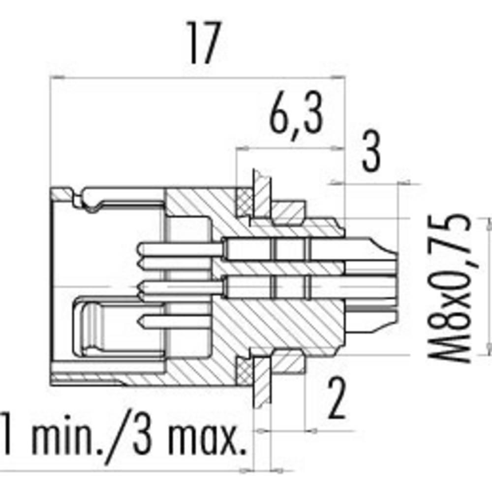 Binder 99-9207-00-03 Series 620 Sub Miniature Circular