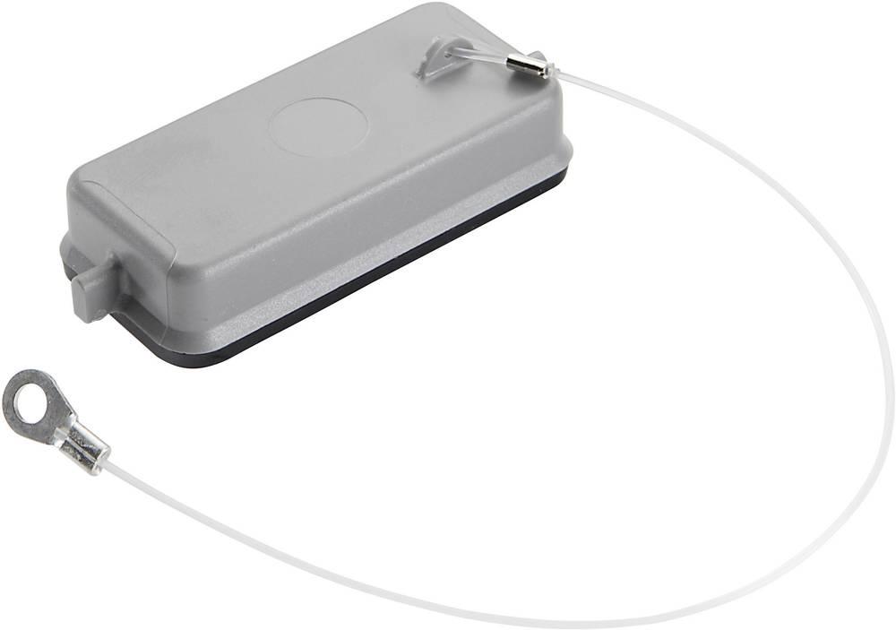 Beskyttende cover med 2 bolte til monteret, socket, kobling boliger, nøglesnor med Spade Series H-10 A LappKabel EPIC® H-A 10 K