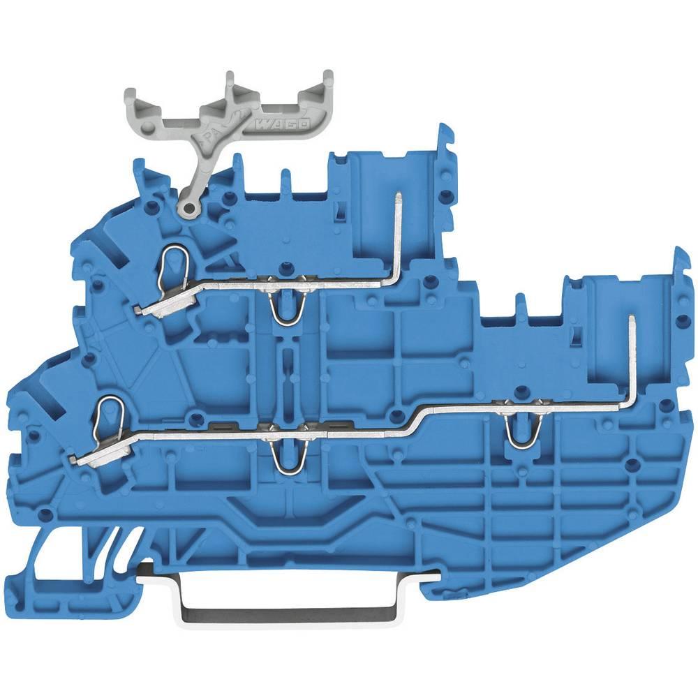 Basisklemme 3.50 mm Trækfjeder Belægning: N Blå WAGO 2020-2204 1 stk