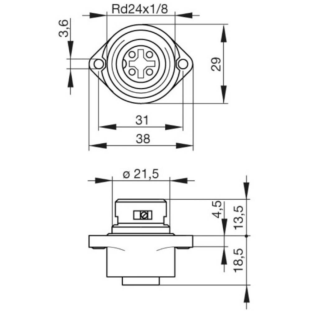 Hirschmann 932 321-100 CA 3 GD CA Series Mains Voltage