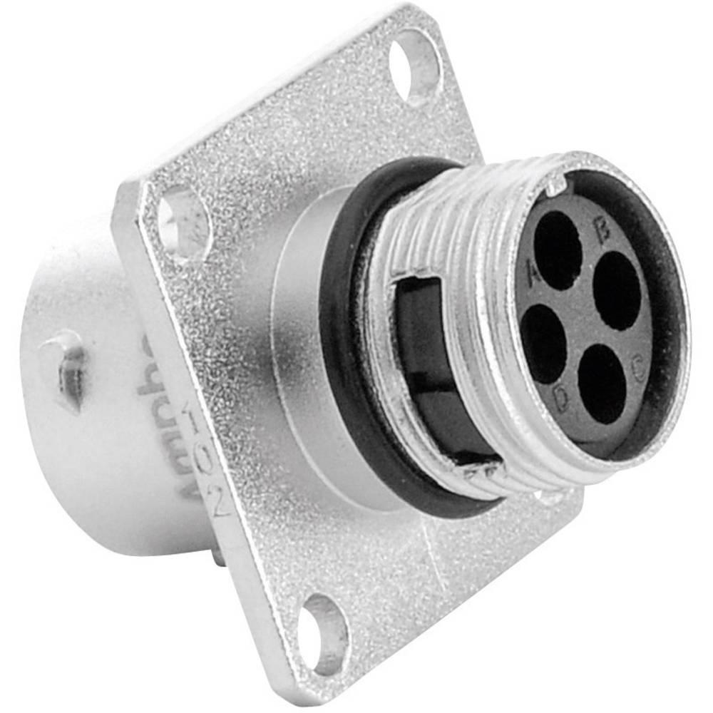 Vtičnica za naprave - serije RT360™ s pravokotno prirobnico, nazivni tok 13 A poli: 4 RT0010-4SNH Amphenol