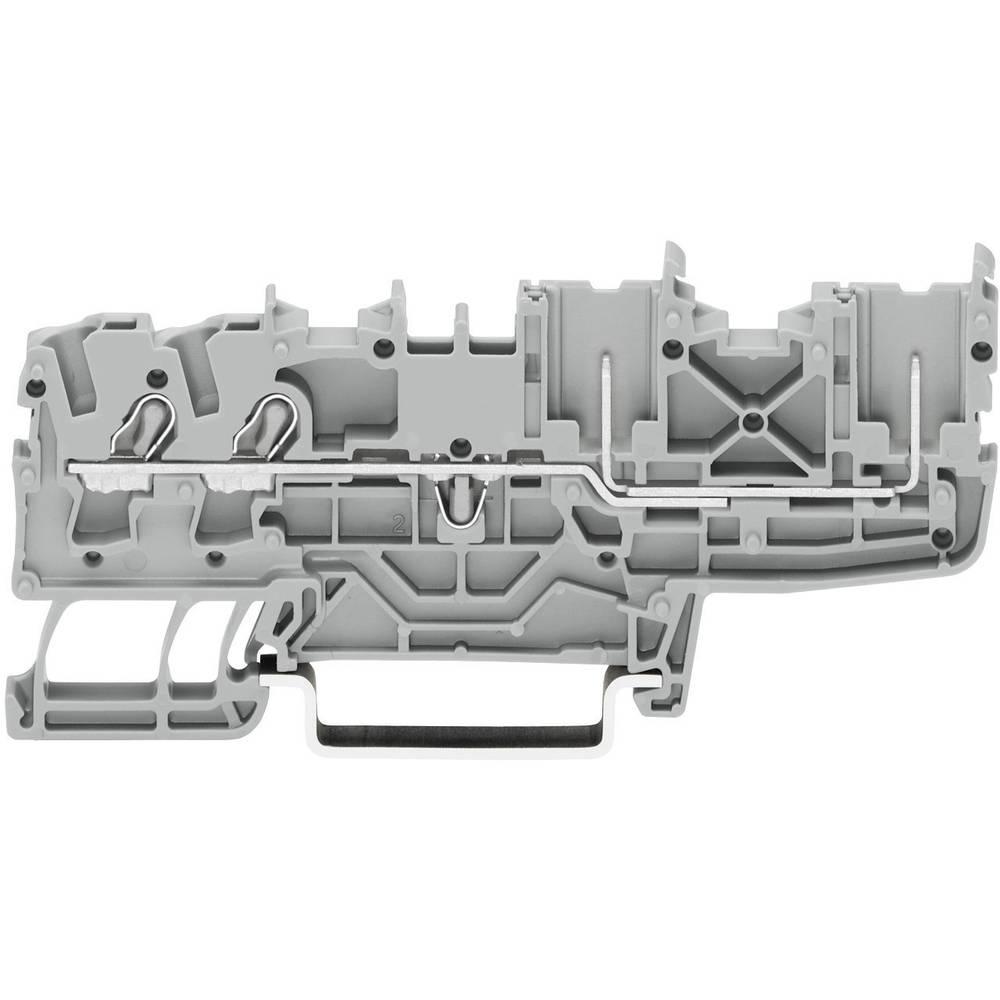WAGO 2022-1401 2-conductor/2-pin Base Terminals, Series 2022 0.25 - 4 mm² Grey