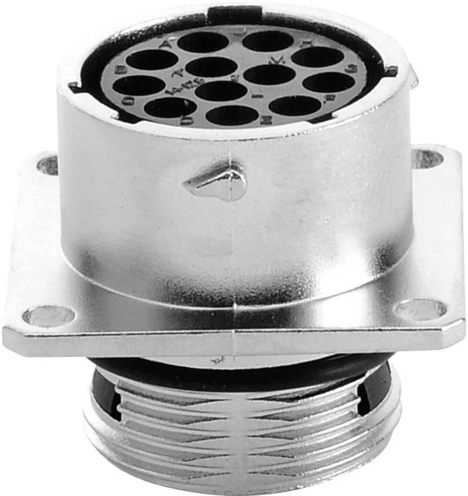Vtičnica za naprave - serije RT360™ s pravokotno prirobnico, nazivni tok 13 A poli: 12 RT0014-12SNH Amphenol