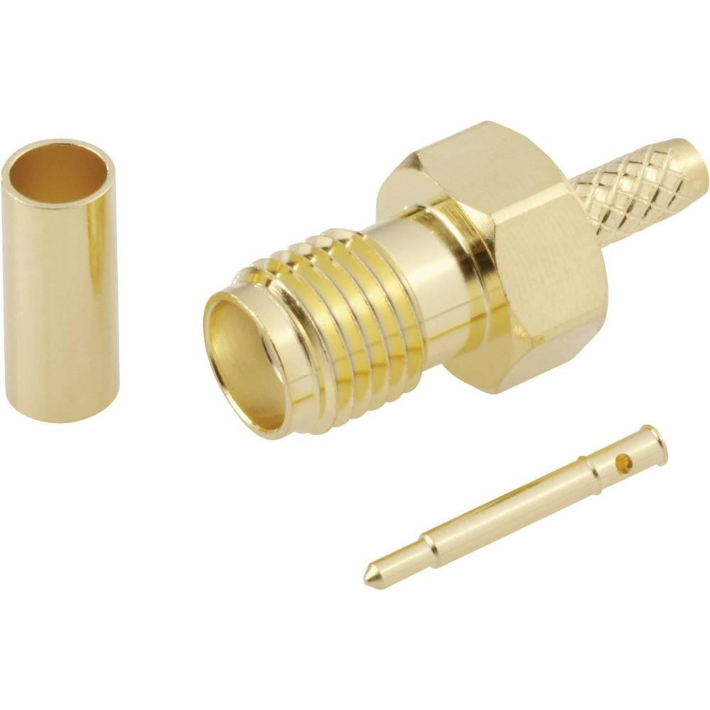 SMA reverzni ženski konektor,50 ohmov, raven, pozlačen, zastiskanje, vsebina: 1 kos 419023