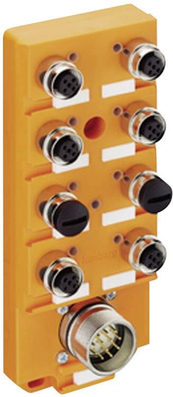 Sensor & actuator box (passive) M12 splitter + steel thread ASBS 4