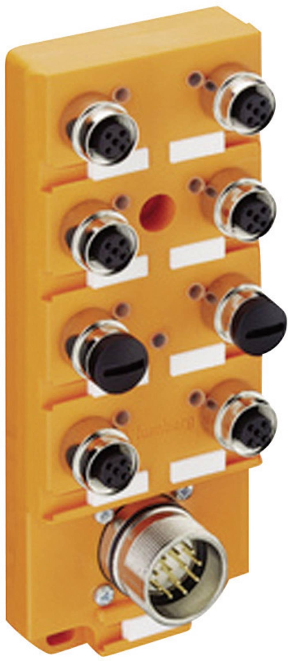 Razdelilnik za senzorje/aktuatorje Lumberg Automation ASBS 6/LED 5-4, M12, brez kabla