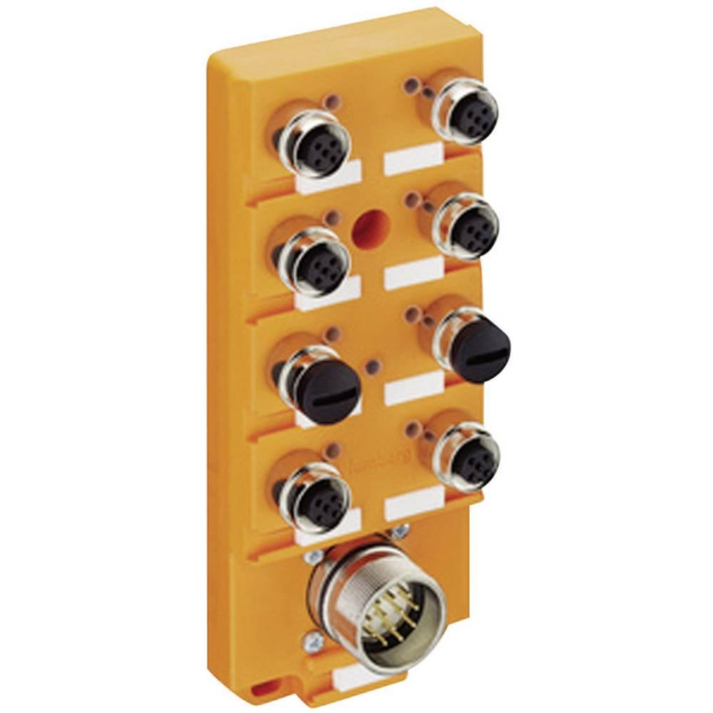 Sensor/aktorbox passiv M12-fordeler med metalgevind ASBS 6/LED 5-4 11128 Lumberg Automation 1 stk