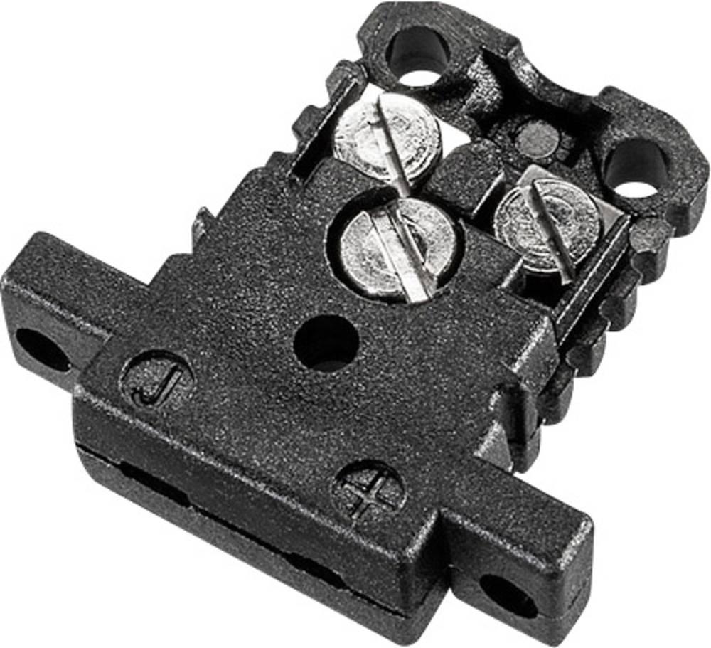 Mini konektor za termoelementB & B Thermotechnik 0220 0010, 0,5 mm2, črn, vsebina: 1 kos