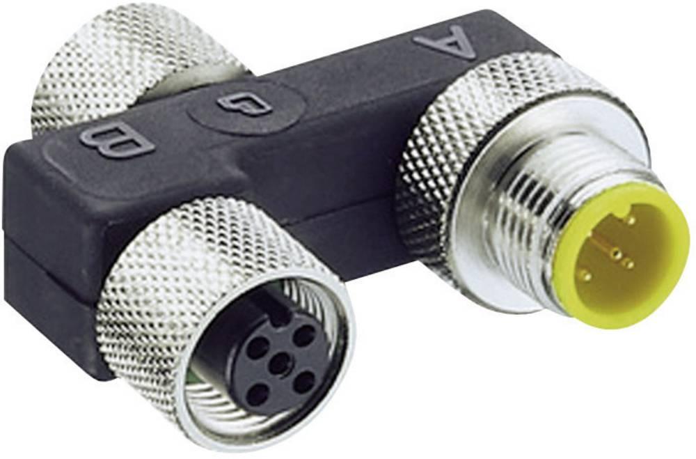 Sensor/aktorbox passiv M12-fordeler med metalgevind 0906 UTP 101 7843 Lumberg Automation 1 stk