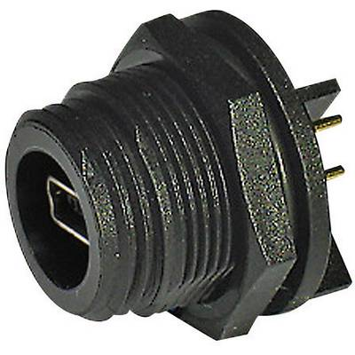 Image of Bulgin PX0457 Mini USB-socket 2.0 - Type A/B - IP68 Socket, built-in pin strip
