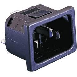 IEC-stik C14 Serie (netstik) PX Stik, indbygning lodret Samlet poltal: 2 + PE 10 A Sort Bulgin PX0575/15/63 1 stk