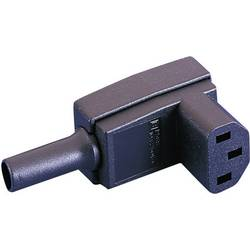 IEC-stik C13 Serie (netstik) PX Tilslutning, vinklet Samlet poltal: 2 + PE 10 A Sort Bulgin PX0588 1 stk